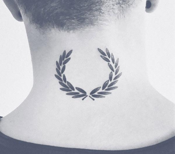 Tatuagem da coroa de louros de Fred Perry