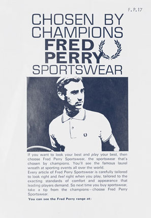 Chosen by Champions Fred Perry Sportswear