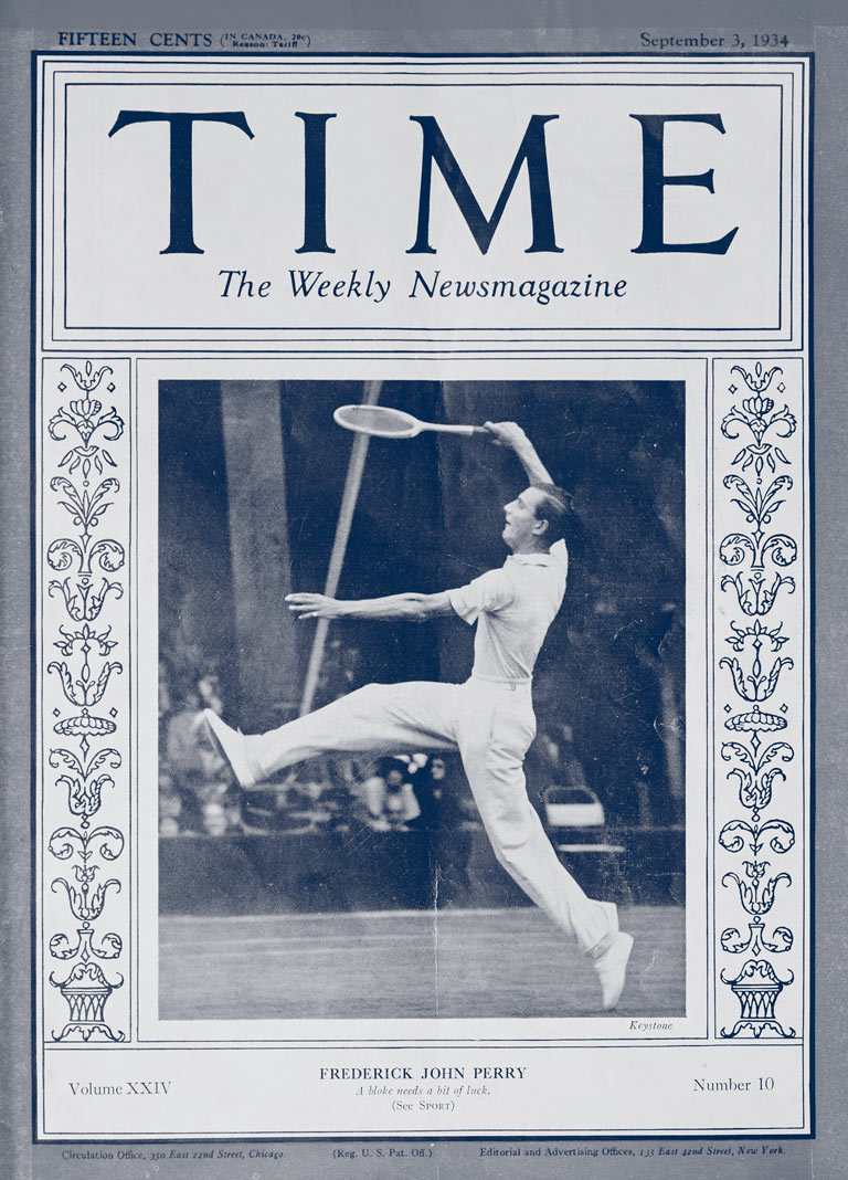 Fred Perry; portada de la revista Time