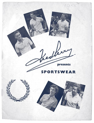Material promocional antiguo de Fred Perry