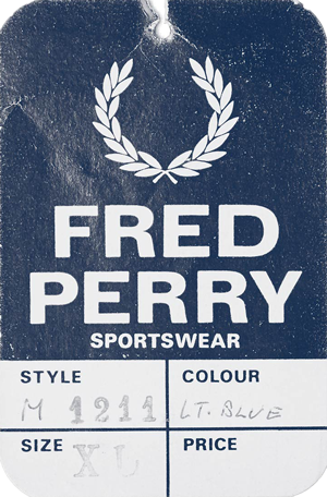 Etiqueta del modelo M1211 original de Fred Perry