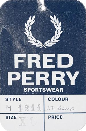 Etiqueta original do estilo M1211 Fred Perry