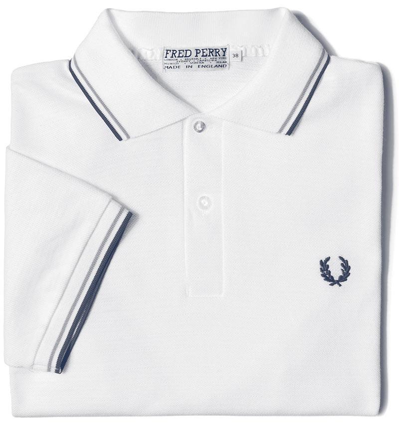 قميص فريد بيري الأصلي بحواف ذات خطوط مزدوجة