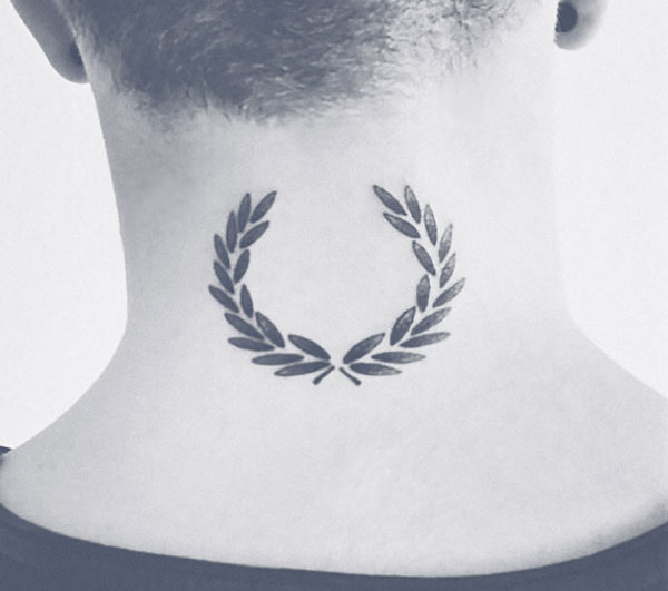 Fred Perry Laurel tattoo