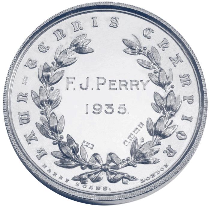 Medalla de ganador de Wimbledon de 1935 de Fred Perry