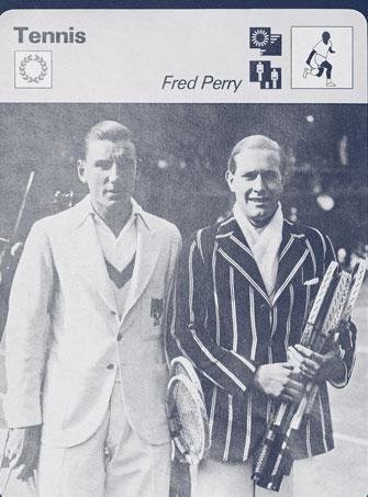 Fotografía de un torneo con Fred Perry